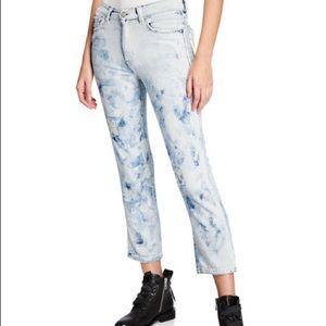 {Edwin} Beth acid wash boyfriend jeans